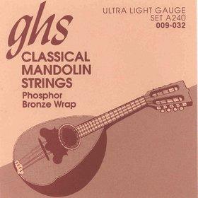 Ghs A240 Set, Mandolin Classic 9-32 Struny