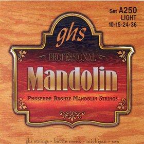 A250 Set Mandolin, Ph Br, Lt Ghs Struny