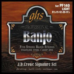 Ghs PF140 Set 5-str Banj,crowe, Lt G Struny