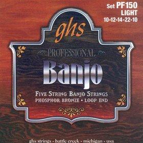 Ghs PF150 Set, 5-str Banj, Ph Br, Lt Struny