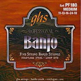 Ghs PF180 Set 5-str. Banj. St Stl, M Struny
