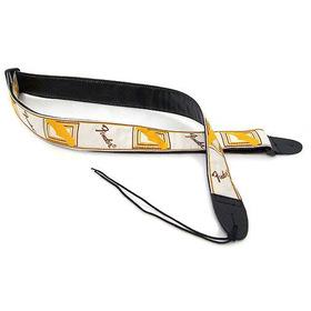 Fender 099-0683-000 Strap, White/brown/yellow